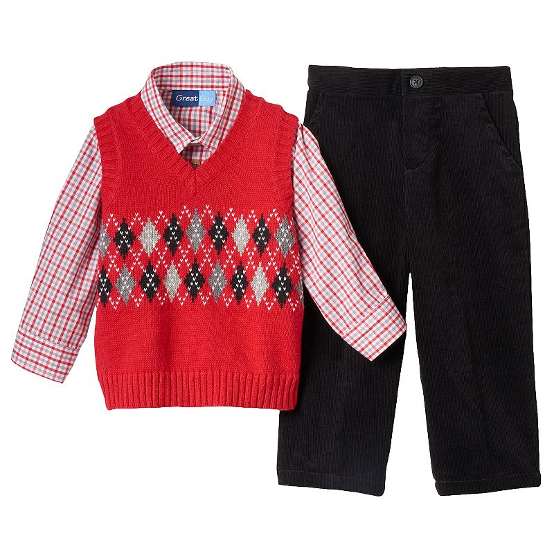 Toddler Boy Red Sweater Vest Cashmere Sweater England