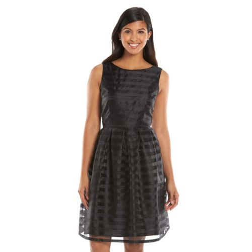 Suite 7 Striped Fit & Flare Dress - Women's