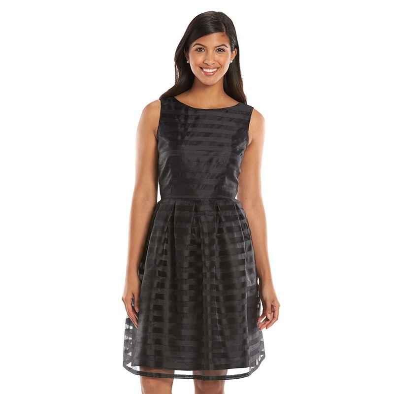 Suite 7 Striped Fit & Flare Dress - Women's