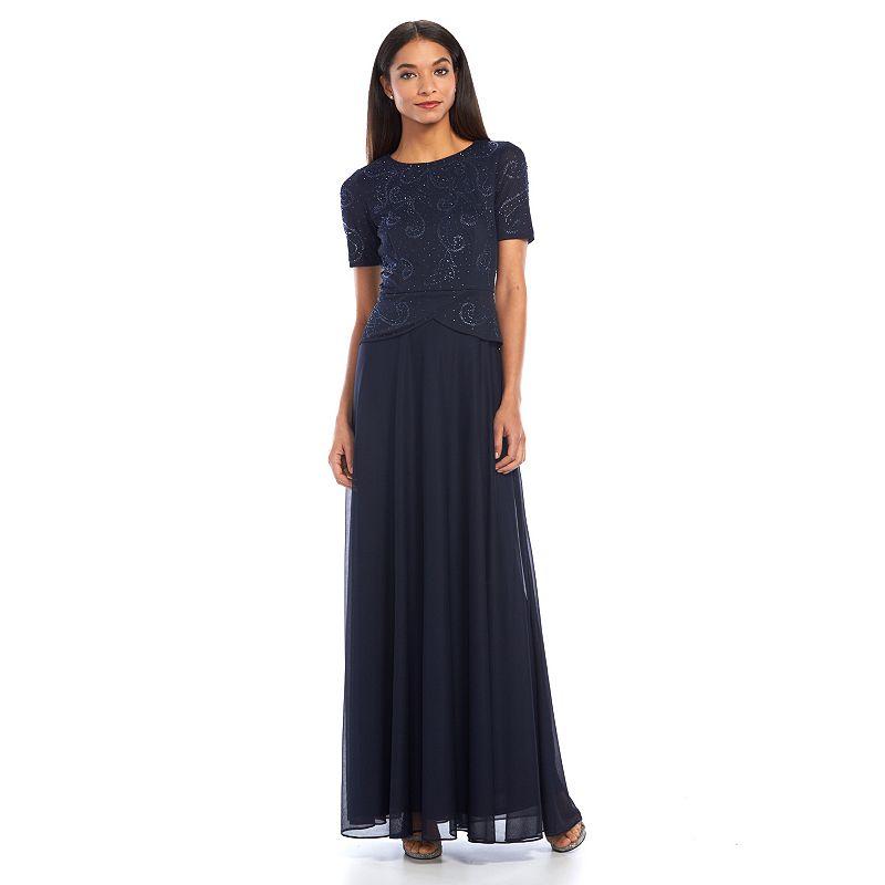 1 by 8 Embellished Peplum Evening Dress - Women's