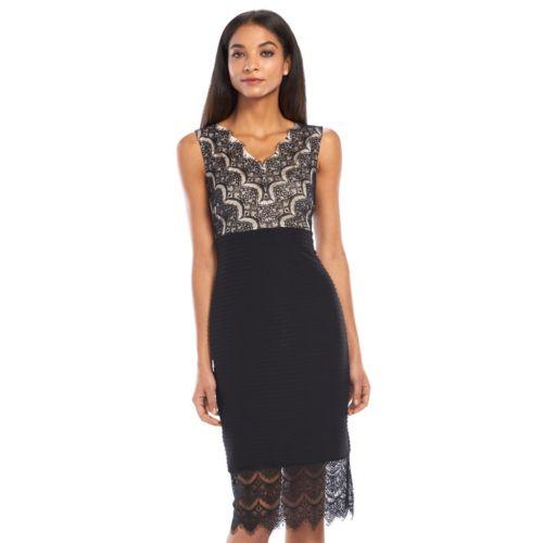 Chaya Pintuck Lace Sheath Dress - Women's