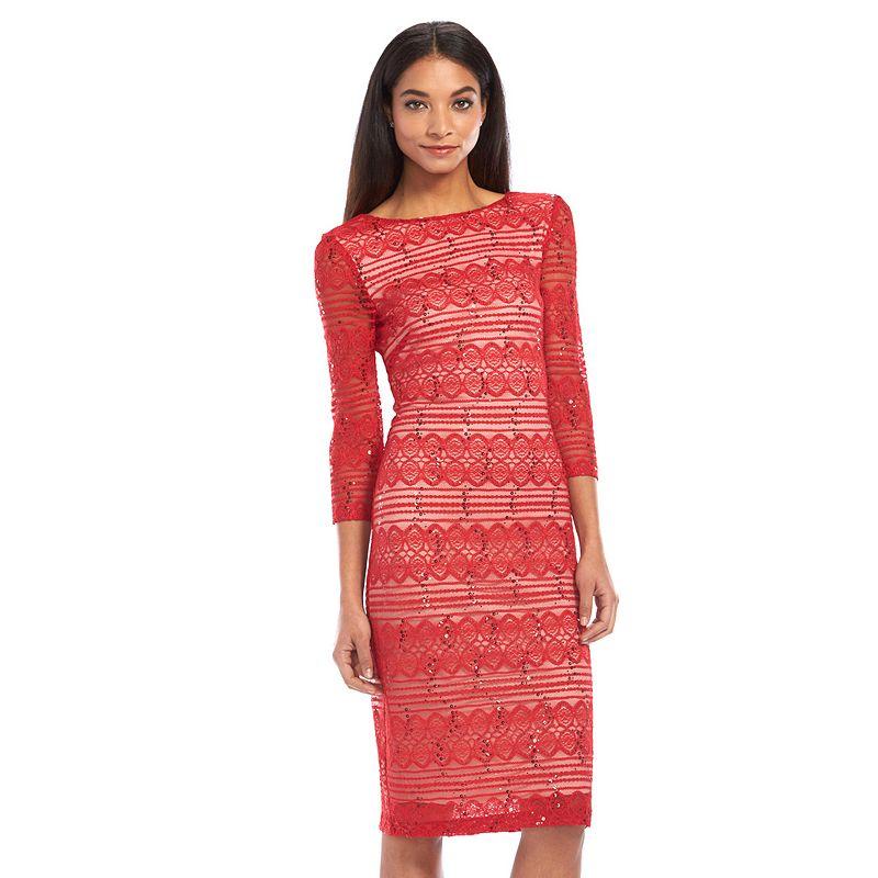 Chaya Sequin Lace Midi Dress