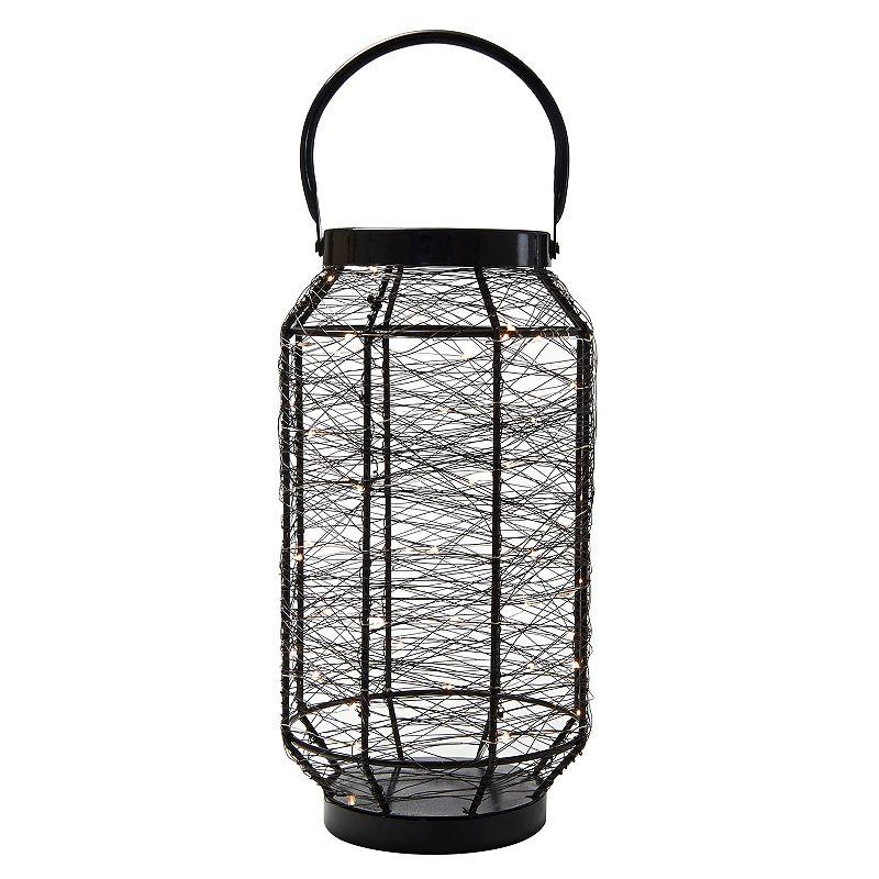 Elements Cylinder String LED Light Lantern