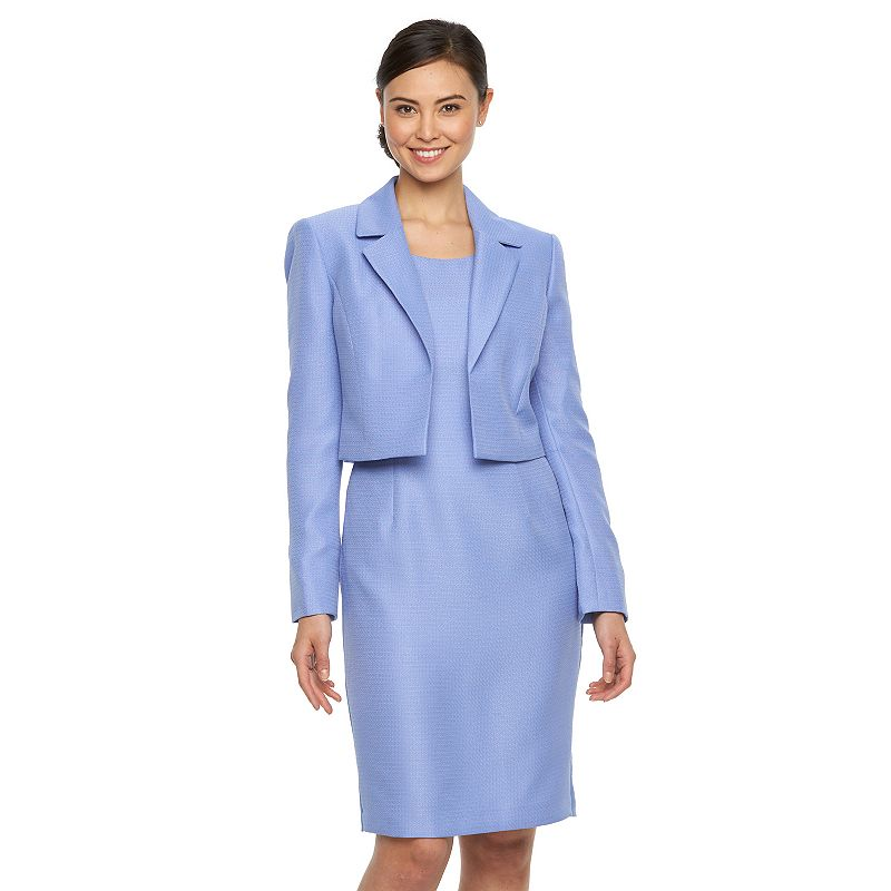 Women's Le Suit Jacquard Sheath Dress & Jacket Set