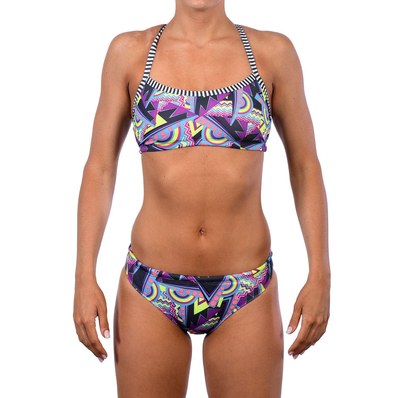 Womens Dolfin Uglies Printed Workout Bikini 2-pc. Set