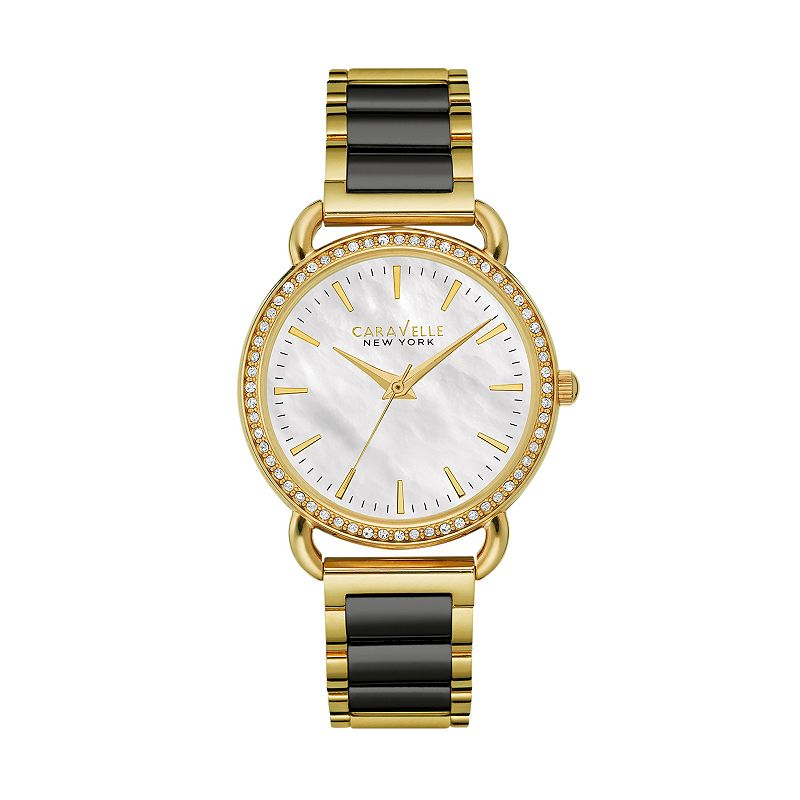 Caravelle New York by Bulova Women's Crystal Two Tone Stainless Steel Watch - 44L187