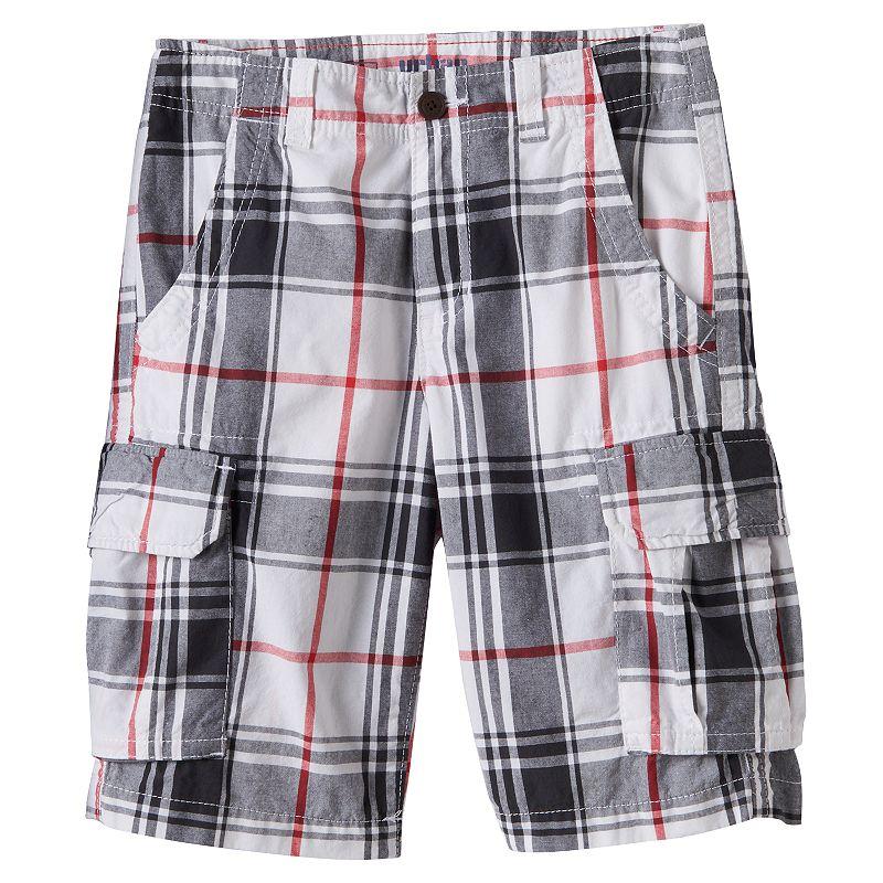 Boys 8-20 Urban Pipeline® Plaid Messenger Cargo Shorts