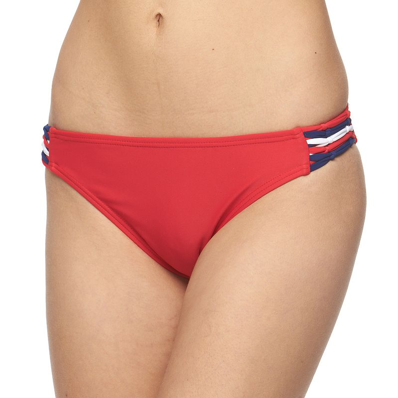 Juniors' Endless Sun Strappy Side Scoop Bottoms
