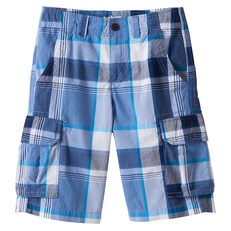 Boys 8-20 Urban Pipeline® Plaid Messenger Cargo Shorts