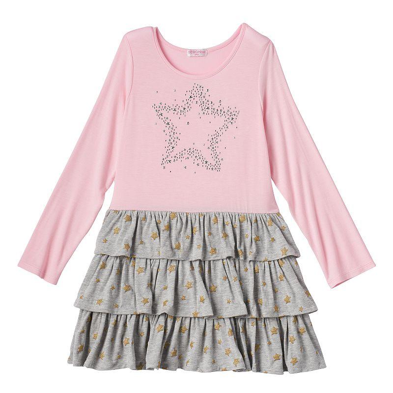 Design 365 Girls 4-6x Tiered Star Dress