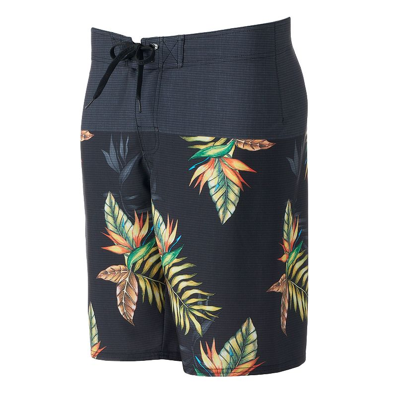 Men's Hang Ten Print Stretch Cargo Board Shorts