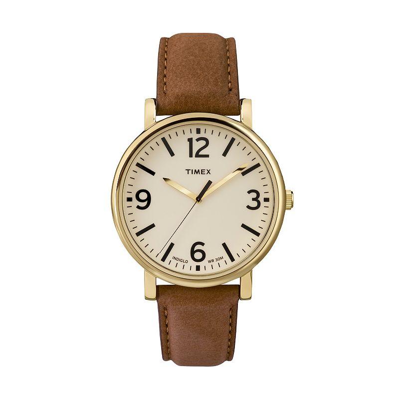 Timex Unisex Originals Leather Watch - T2P527JT