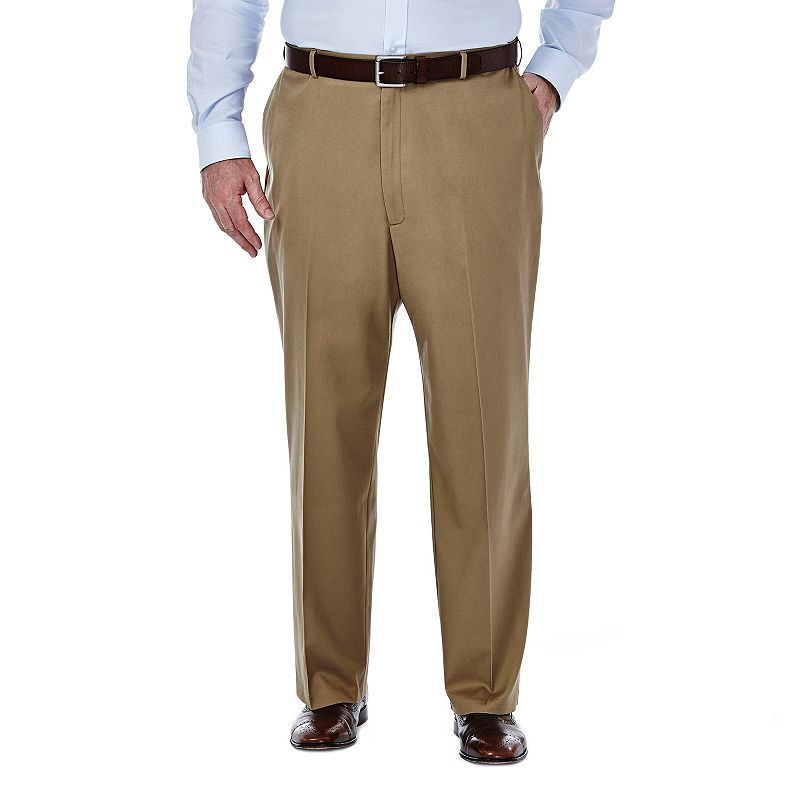 Big & Tall Haggar Premium No-Iron Khaki Flat-Front Pants