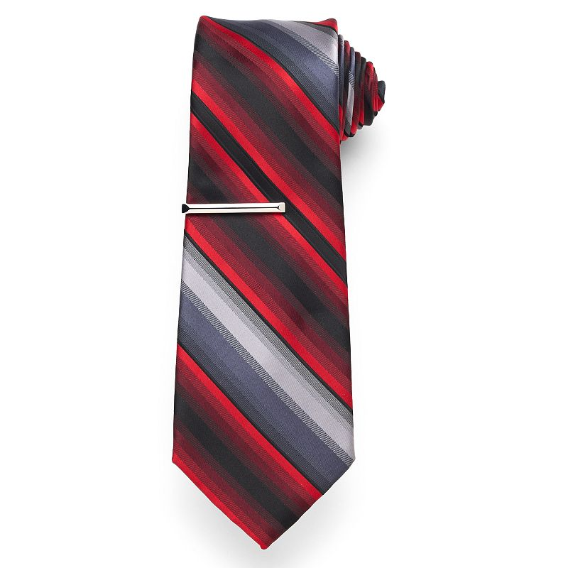 Apt. 9® Tommy Striped Tie with Tie Bar - Men