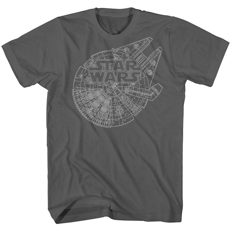 Big & Tall Star Wars Millennium Falcon Plans Tee