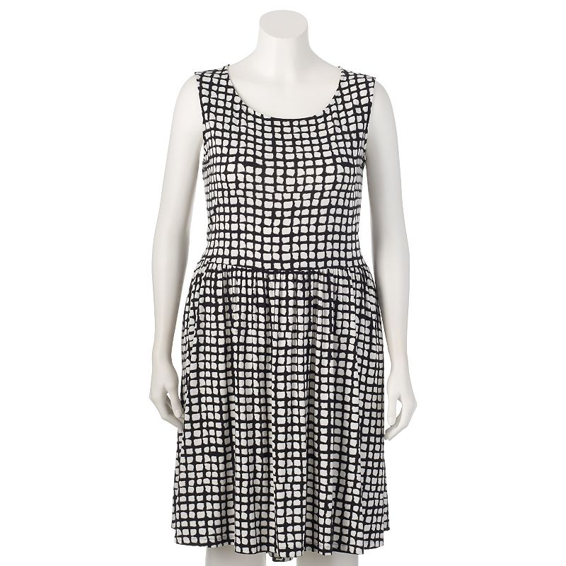 Plus Size Apt. 9® Printed High-Low Hem Dress