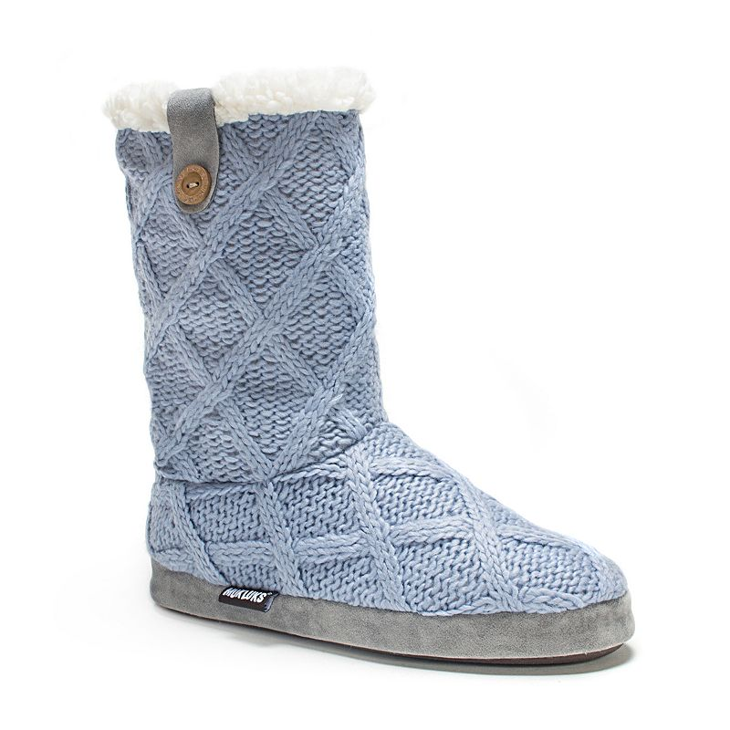 MUK LUKS Women's Arden Cable-Knit Bootie Slippers