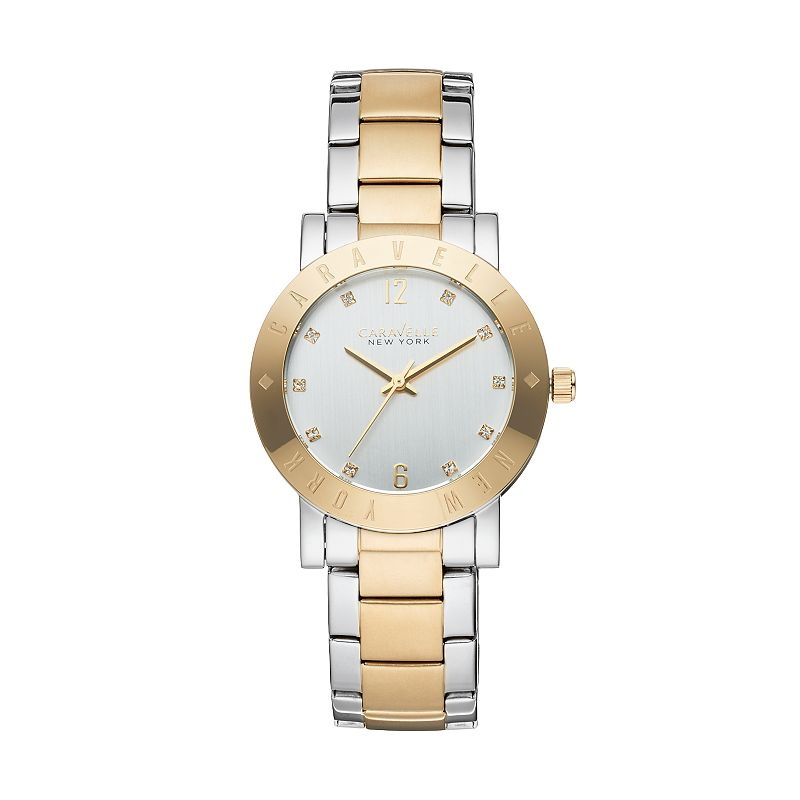 Caravelle New York by Bulova Women's Crystal Two Tone Stainless Steel Watch