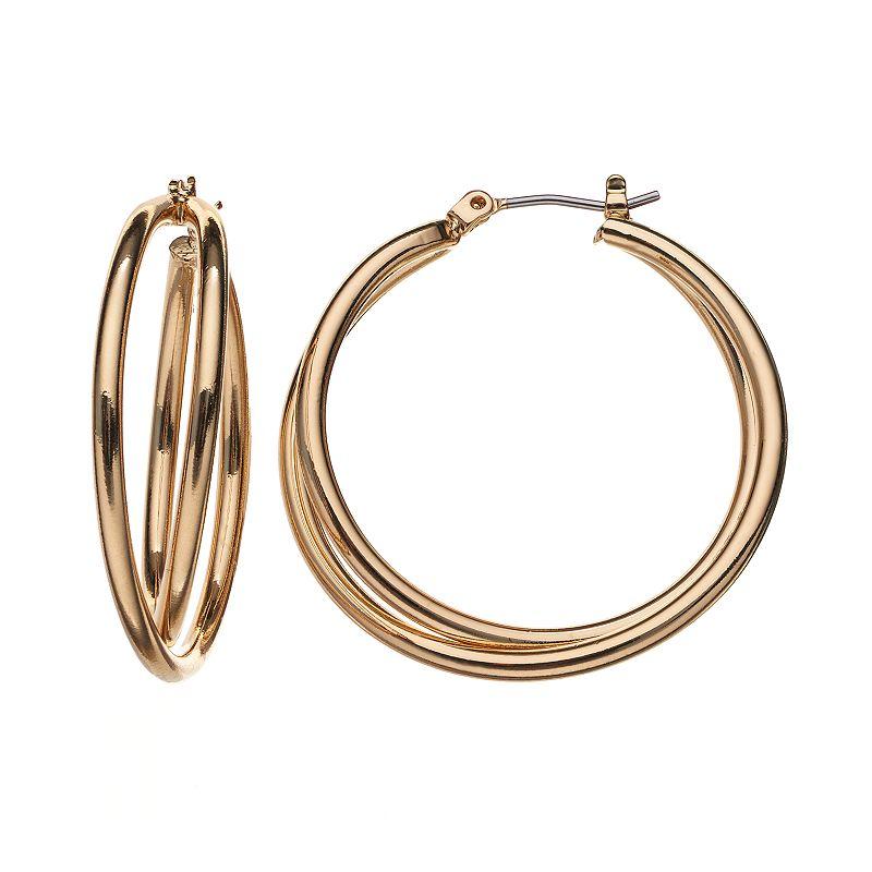 double hoop earrings kohl 39 s. Black Bedroom Furniture Sets. Home Design Ideas