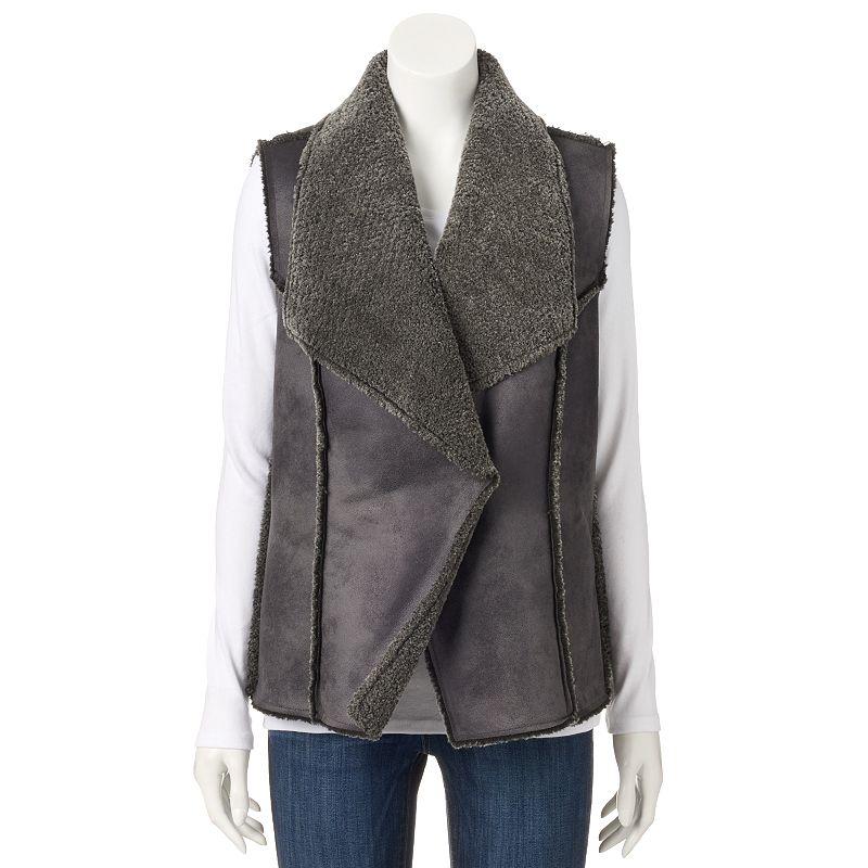 Women's Design 365 Faux-Shearling Vest