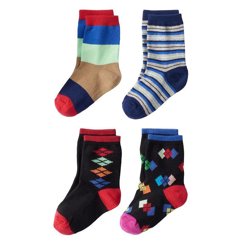 Boys 8-20 Trimfit 4-Pack Crew Socks