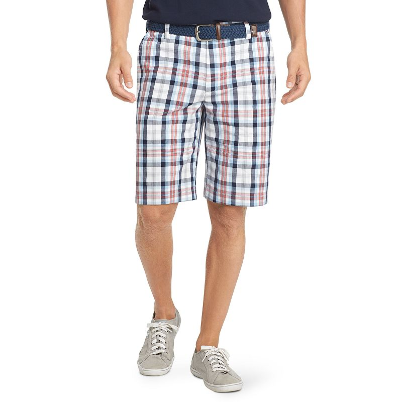 Men's IZOD Portsmith Poplin Plaid Shorts