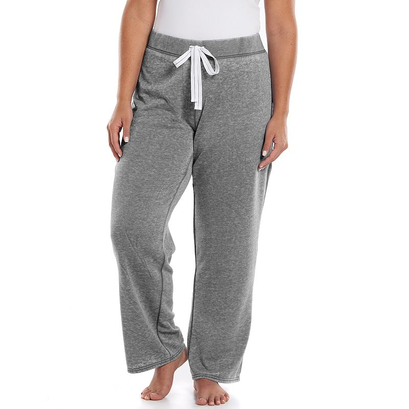 New  LIFE  STYLE TWILL TERRY CONVERTIBLE LOUNGE PANTS  WOMEN39S SIZE