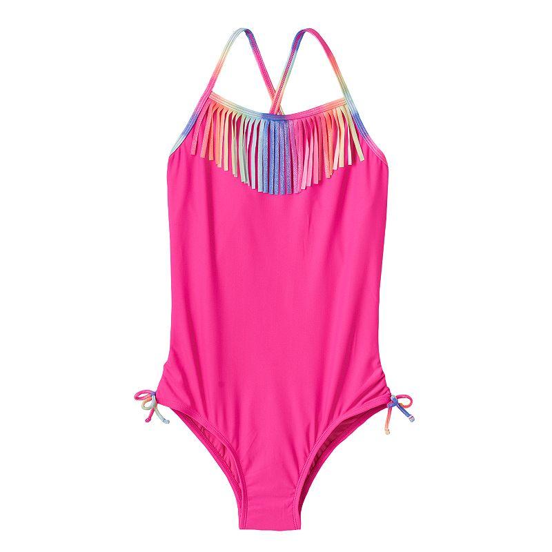 Girls 7-16 & Plus Size SO® One-Piece Fringe Swimsuit
