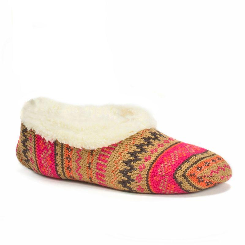 MUK LUKS Women's Ballerina Sweater-Knit Bootie Slippers