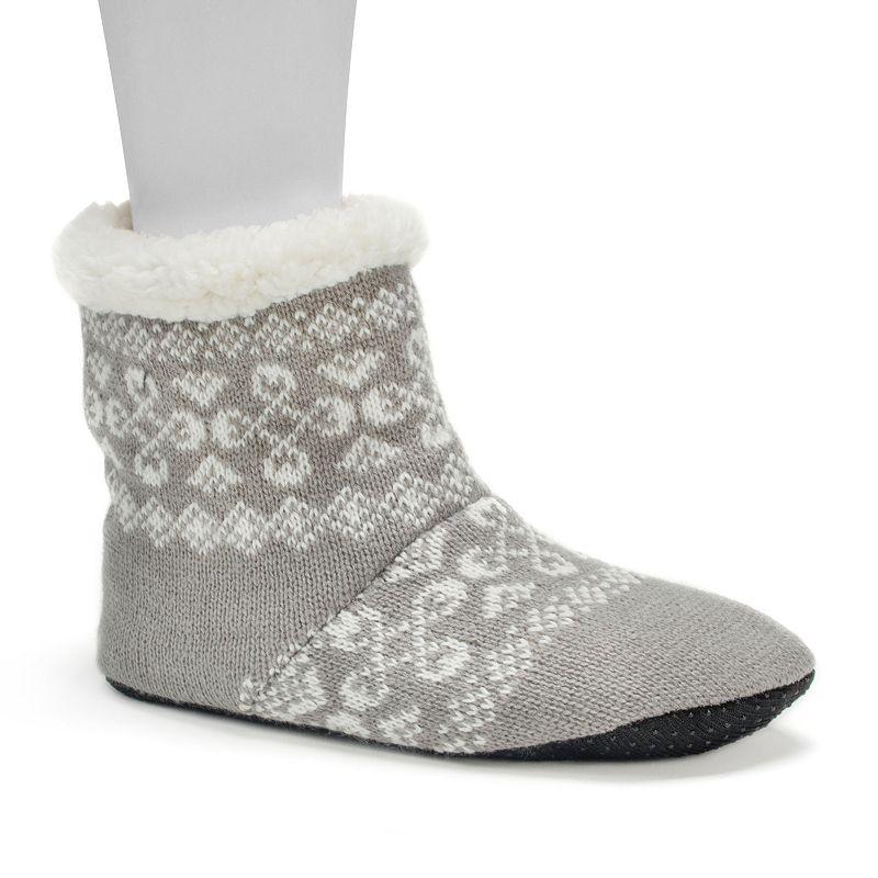 MUK LUKS Women's Bright Striped Bootie Slippers