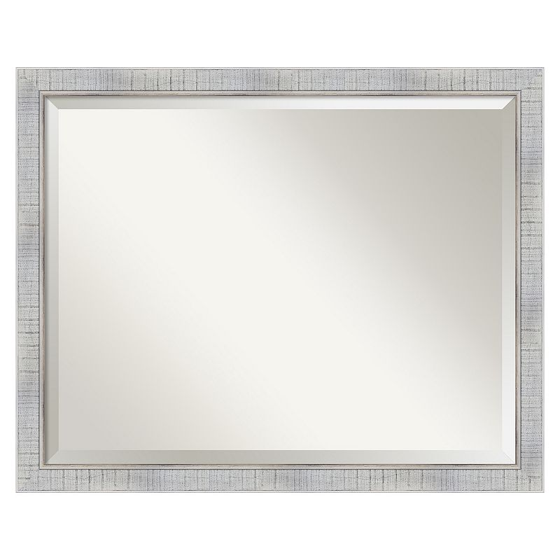 Sonoma Whitewash Beveled Wall Mirror
