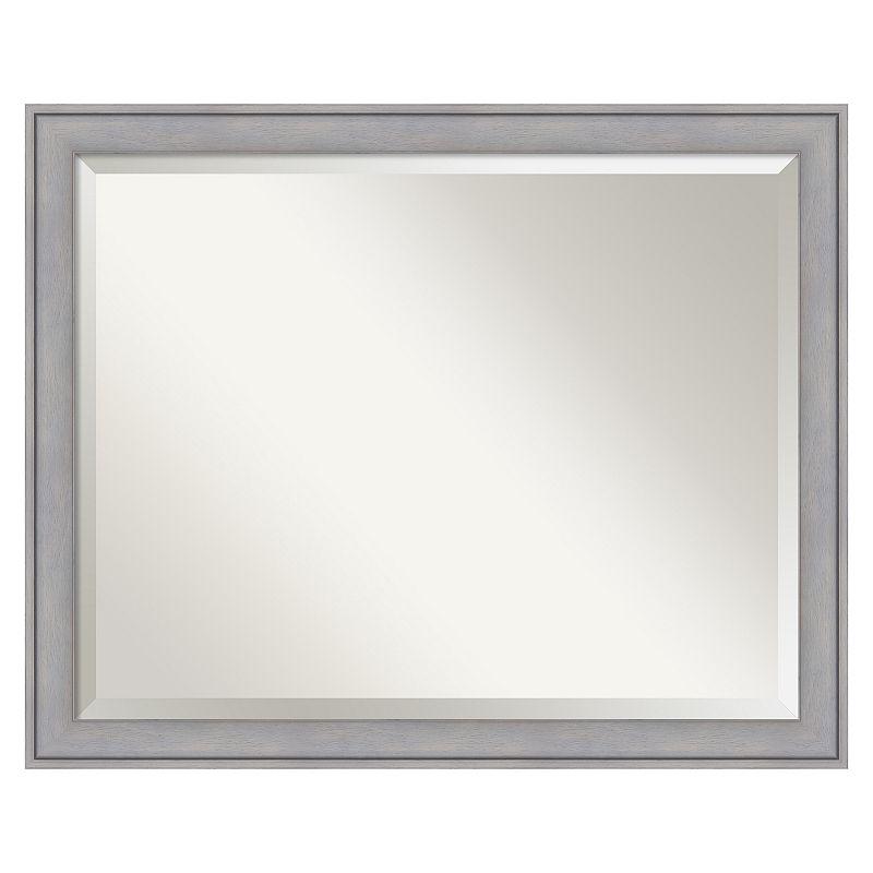 Graywash Beveled Wall Mirror