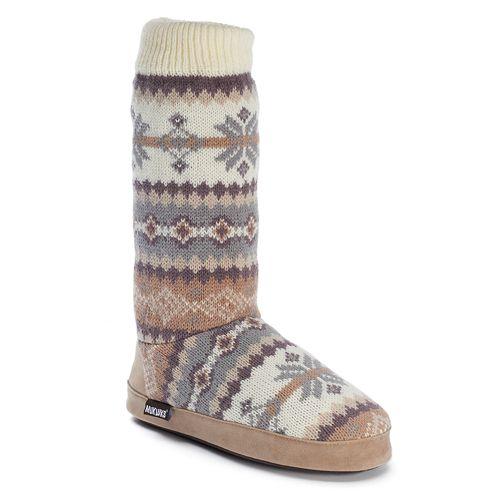 MUK LUKS Vanessa Vintage Snowflake Women's Bootie Slippers