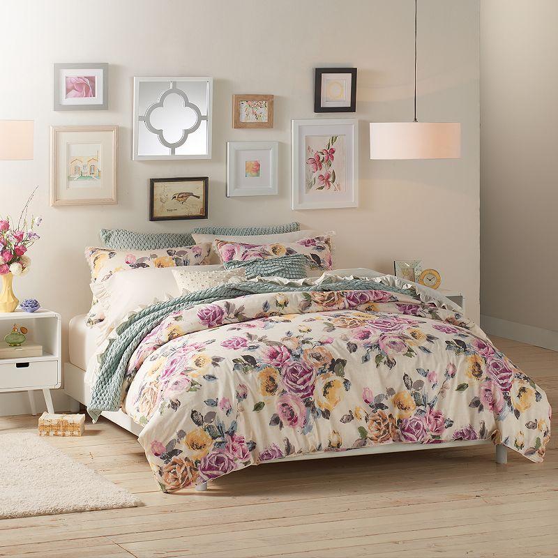 LC Lauren Conrad Rose Garden Comforter Set