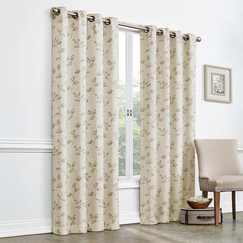 Gardenia Jacquard Room Darkening Curtain