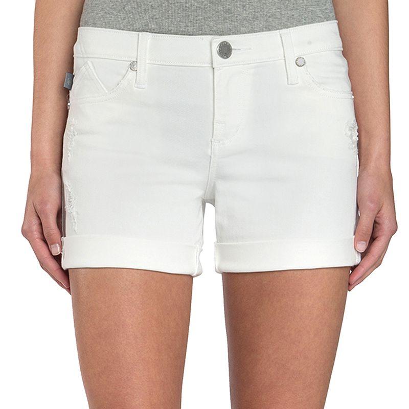 Women's Rock & Republic® Bumpershoot White Jean Shorts, Size: 0