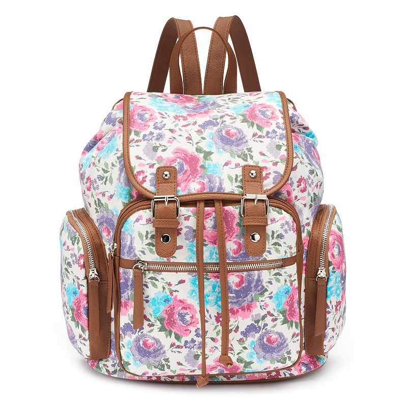 Candie's® Avery Cargo Floral Backpack