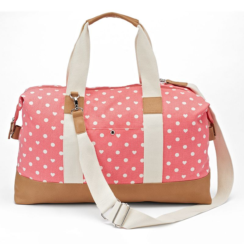 Candie's® Katy Dotted & Hearts Weekender Bag