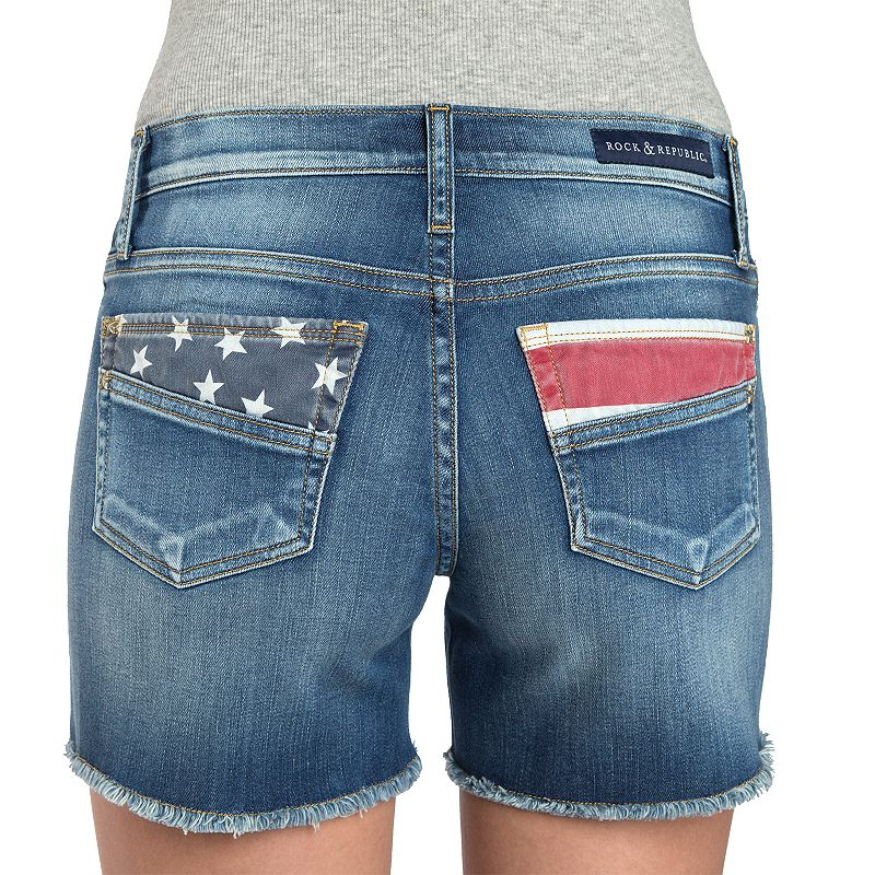 Women's Rock & Republic® Hula American Flag Jean Shorts