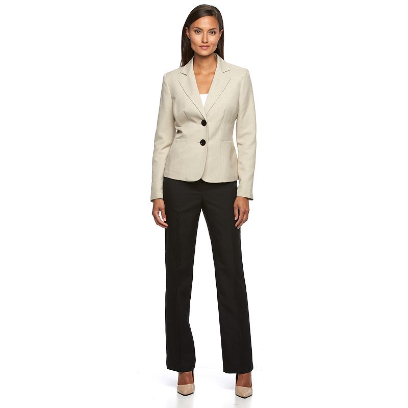 Women's Le Suit Solid Jacket & Pants Set