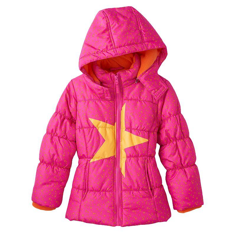 Girls 4-6x Mint Star Puffer Jacket
