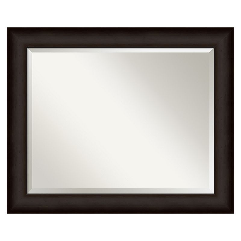 Deep Taupe Beveled Wall Mirror