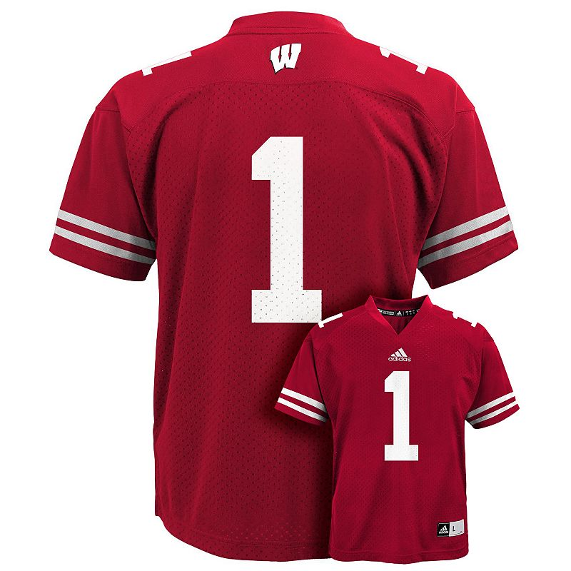 Boys 8-20 adidas Wisconsin Badgers NFL Replica Jersey