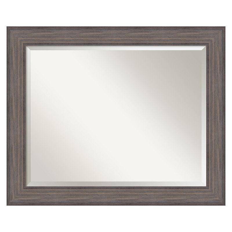 Country Barnwood Beveled Wall Mirror