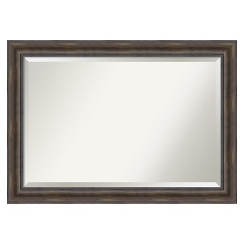 Rustic Pine Extra Large Beveled Wall Mirror