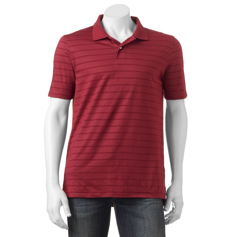 Men's Croft & Barrow® Tailored-Fit Striped Performance Polo