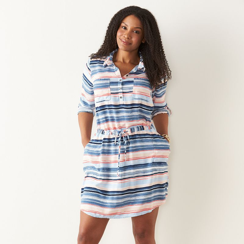 Plus Size SONOMA Goods for Life™ Print Shirtdress