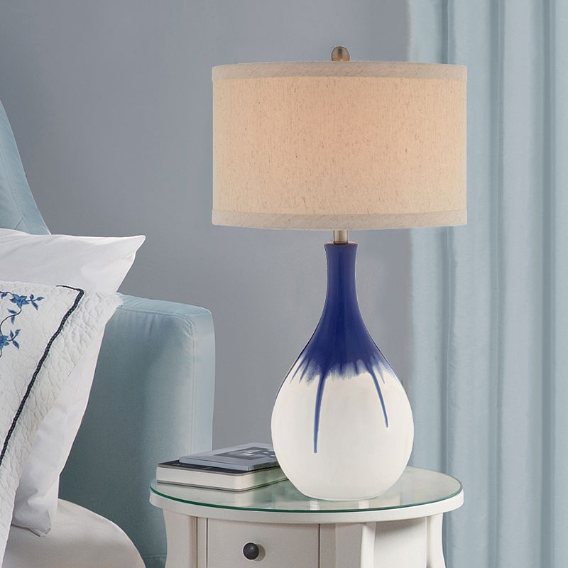 Catalina 3-Way 30'' Ceramic Ombre Table Lamp