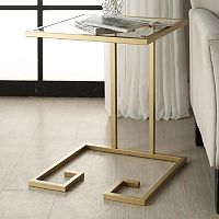 Carolina Forge Royce Glass Accent Table