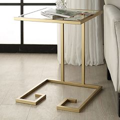 Carolina Forge Royce Glass Accent Table  by